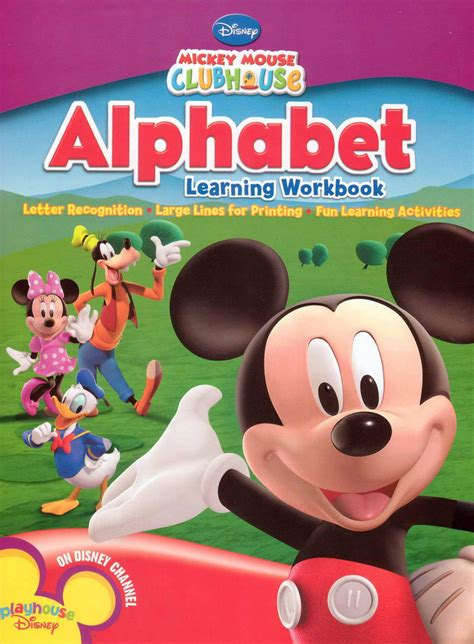 Alphabet Learning Workbook Mickey Mouse Clubhouse